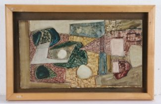 Gerald A Meares (1911-1975) Abstract, oil on board, 25.5cm x 45.5cm