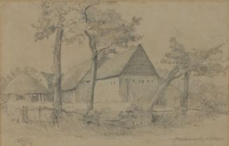 Attributed Charles Bird (act.1892-1907) Maydencroft Nr Hitchin, pencil, 34cm x 22cm, note to reverse