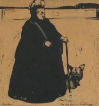 """Sir William Nicholson (1872-1949) 'Queen Victoria' lithograph, signed and inscribed """"For my friend"""