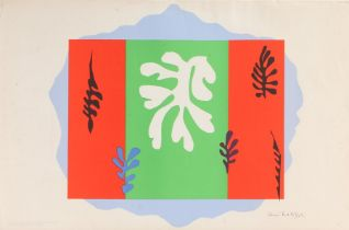 After Henri Matisse, The Dancer,lithograph, from the School Prints Ltd, printed by W.S. Cowell,