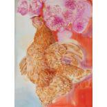 Sigmund Pollitzer (British, 1913-1982) Dead Hen, signed and dated 44, ink and wash, 49cm x 64cm Born