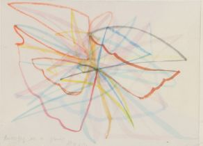 Alan Peters (1933-2009)Butterfly at a Flower 1953, pencil title and initials, 16cm x 12cm