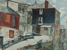 Ivy Gladys Patricia Allen, The Old Harbour Newlyn Cornwall, watercolour, signed and titled to the