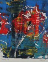 Chinwe Chukwuogo-Roy (1975-2012) Poppies VI 2002, pencil titled and signed monoprint, 39cm x 48cm
