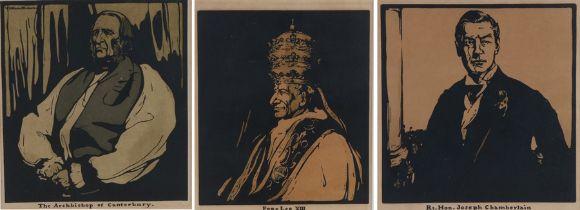 After William Nicholson (1872-1949) Three woodcut portraits, The Archbishop of Canterbury, Rt.Hon.