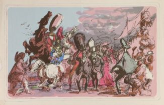 After Feliks Topolski, This England, lithograph printed in England at The Baynard Press for School