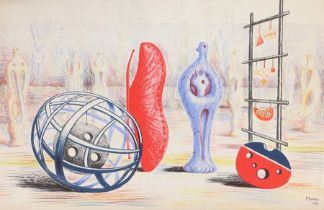 After Henry Moore, Sculptural Objects,lithograph for School Prints Ltd and printed in Great Britain