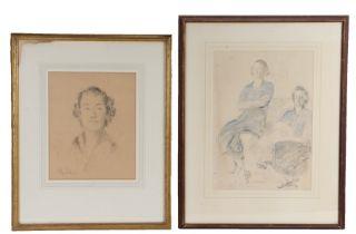 Phillip Connard (1875-1958) two pencil drawings, the first of Lady Bridget Buchan-Hepburn, 23.5cm