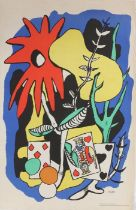 After Fernand Leger, King of Hearts, lithograph, from the School Prints Ltd and printed in Great
