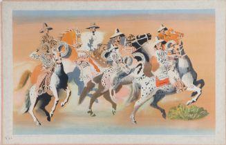 After Edward Buk Ulreich, Arizona Cowboys, printed in England by the Baynard Press for School Prints
