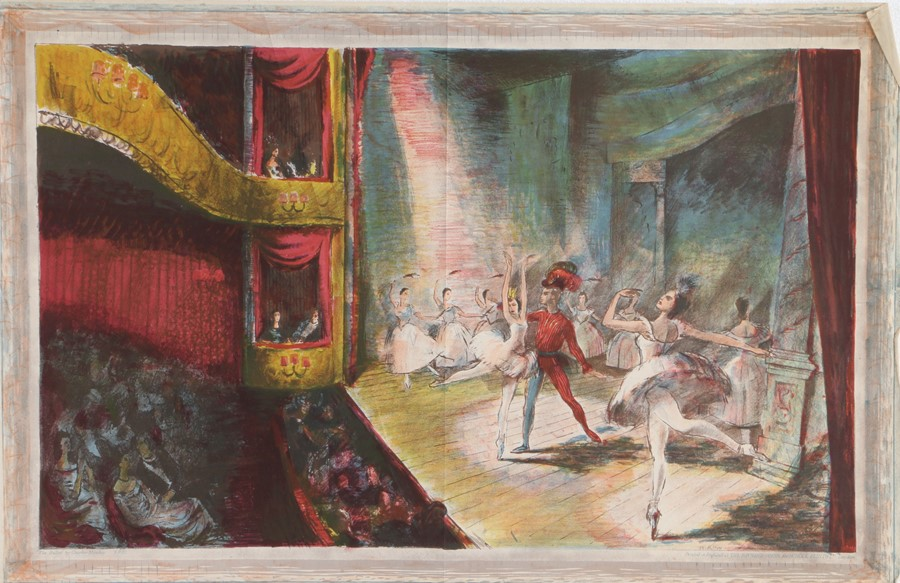 After Charles Mozley, The Ballet, lithograph, printed in England at The Baynard Press for School