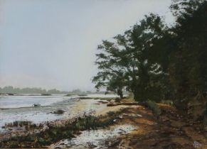 Margaret Glass (b.1950) Iken Foreshore, pastel, dated to the rear 1978, 55cm x 39cm