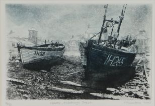 Derek Chambers (Contemporary) Winter, Aldeburgh Beach, pencil signed and titled. dated 2003,