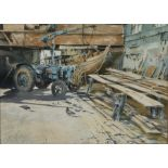 Neil Westwood (Contemporary) Interior Woodbridge Boat Shed, pencil signed watercolour, 38cm x 27cm