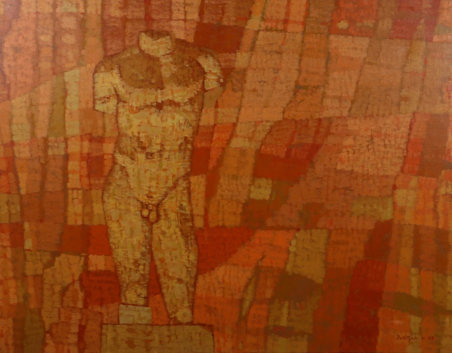 Sigmund Pollitzer (British, 1913-1982) Classic Torso on pink ground, signed and dated 67 , oil on