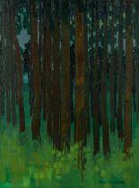 Peter David Polaine (b1937) Forest, signed oil on canvas, 34cm x 45cm