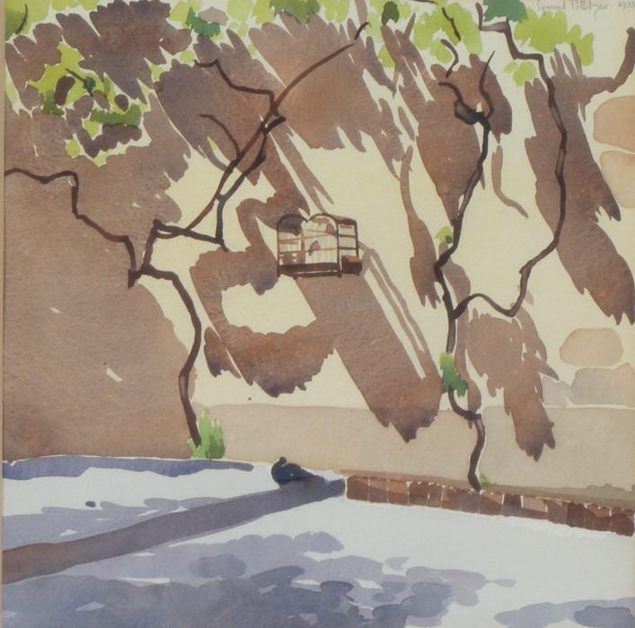 Sigmund Pollitzer (British, 1913-1982) Landscape, signed and dated 1935, watercolour, 35cm x 35cm