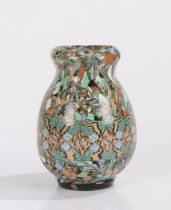 Gerbino for Vallauris, a studio pottery vase in mosaic form, impressed marks to the base, 12cm high