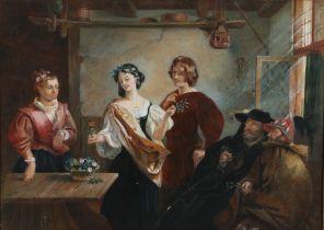 After Charles Robert Leslie (1794–1859) Florizel and Perdita, watercolour, 74cm x 53cm