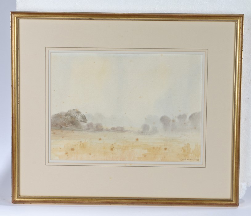 Ethel Keane (contemporary) Field view, signed and dated 1983 watercolour, 37cm x 26cm