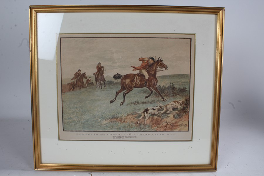 After Randolph Caldecott (1846-1886), four prints on paper, 'Scenes with the Old Mickledale Hunt' - Image 2 of 4