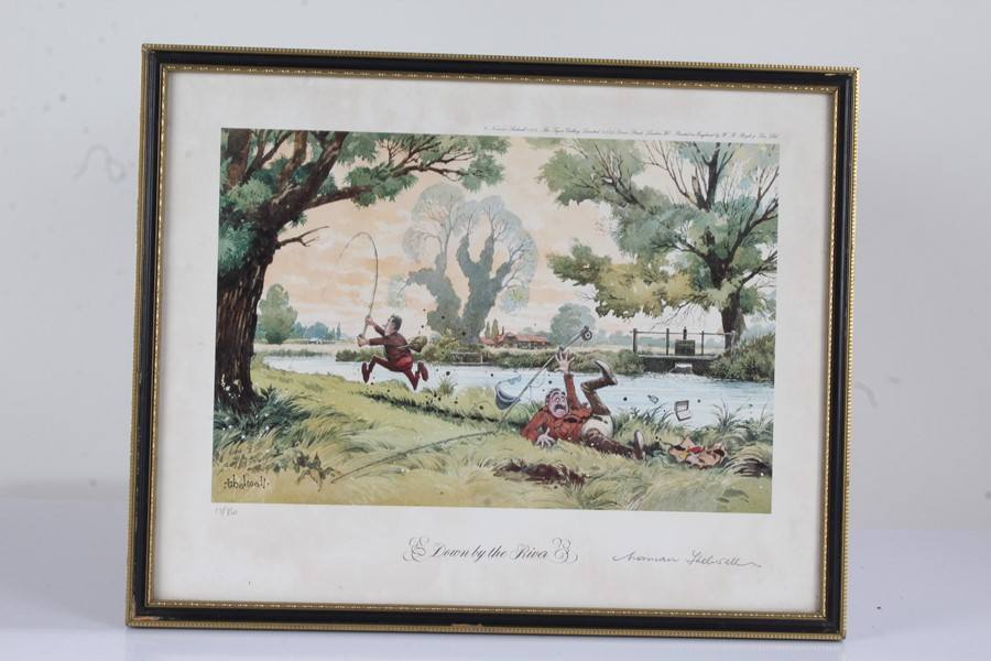 """Four Norman Thelwell signed limited edition sporting prints, """"The Rough Shoot"""" 725/850, """"The - Image 3 of 6"""