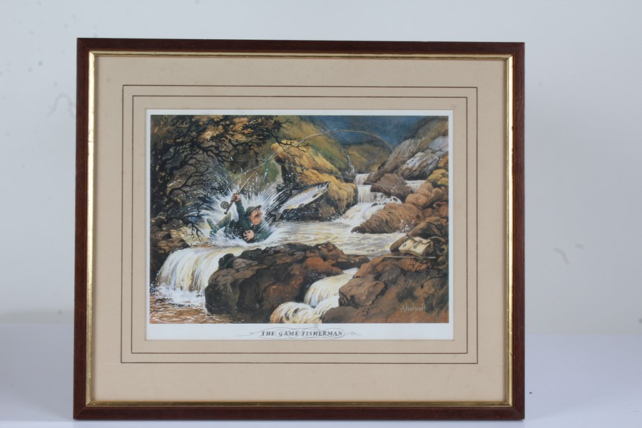 """Four Norman Thelwell signed limited edition sporting prints, """"The Rough Shoot"""" 725/850, """"The"""