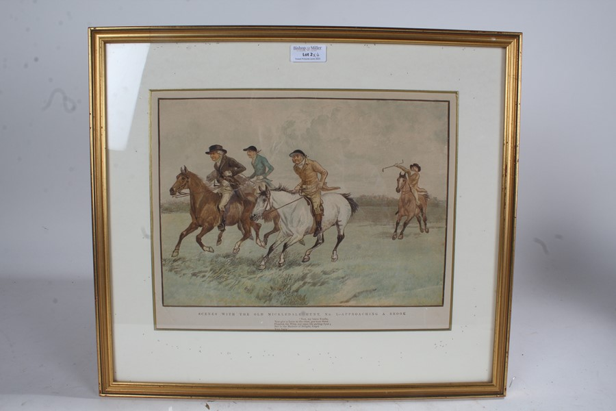 After Randolph Caldecott (1846-1886), four prints on paper, 'Scenes with the Old Mickledale Hunt' - Image 3 of 4