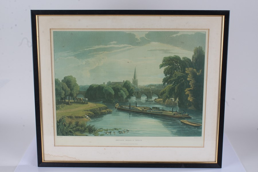 """Prints to include """"Staines Church with the City Stone on the Banks of the Thames"""", """"Abingdon"""