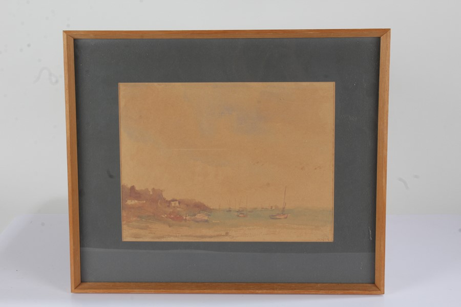 W. G. Tuck(20th Century) coastal river scene, watercolour, housed in a glazed frame, the picture