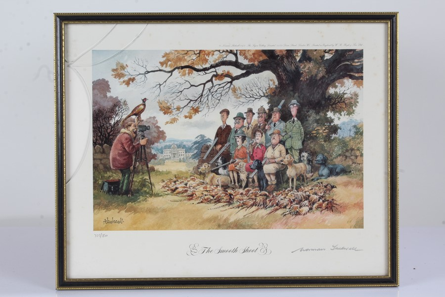 """Four Norman Thelwell signed limited edition sporting prints, """"The Rough Shoot"""" 725/850, """"The - Image 5 of 6"""