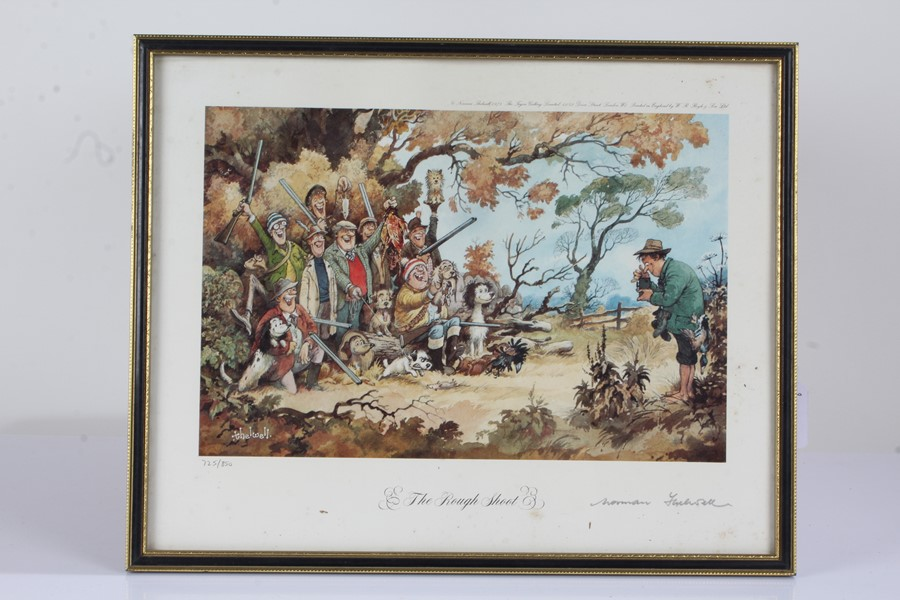 """Four Norman Thelwell signed limited edition sporting prints, """"The Rough Shoot"""" 725/850, """"The - Image 6 of 6"""