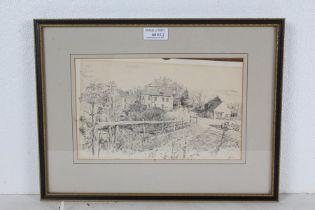 John Western prints, Alton Mill Stutton, The Town Hall at Ipswich, Ash Abbey- the Barn,