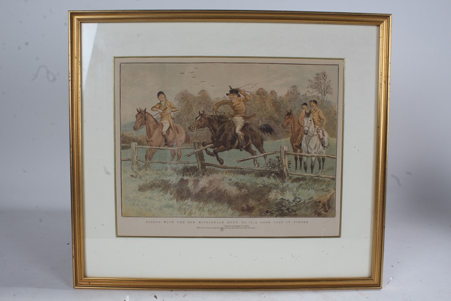 After Randolph Caldecott (1846-1886), four prints on paper, 'Scenes with the Old Mickledale Hunt' - Image 4 of 4