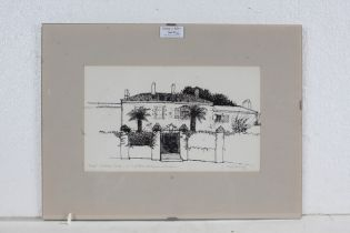 Christopher Chestnutt, study of a French chateau, pencil signed, 1/20, 27cm wide x 16cm high,