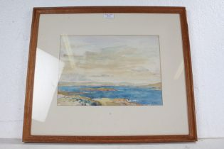 Thomas Train (1890-?), Uist, Scotland, signed watercolour, housed in a glazed light oak frame, the