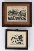 20th Century artists proof 'St Mary, Isles of Scilly', signed Mitchell? in pencil to margin, 10.