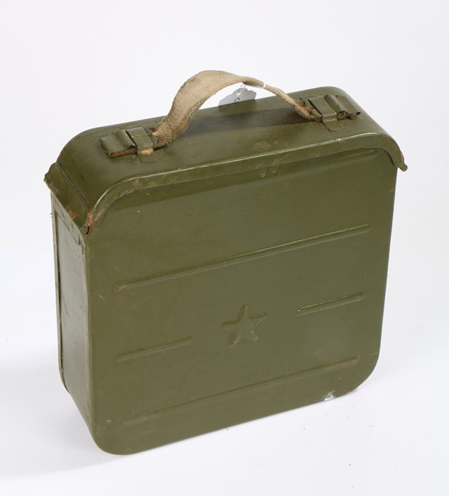 Russian Maxim Machine Gun Ammunition Box containing a quantity of link for the ammunition wrapped in