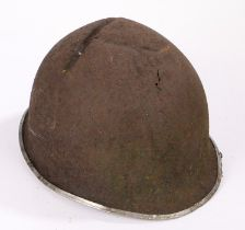 Second World War U.S. M1 fixed bail combat helmet, relic condition
