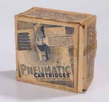 Box of 25 vintage 'Pneumatic' shotgun cartridges, by the 'Pneumatic Cartridge Co. Ltd 30-98 Holyrood