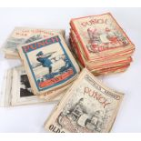 Twenty issues of the First World War 'War News Illustrated' together with a collection of 'Punch'