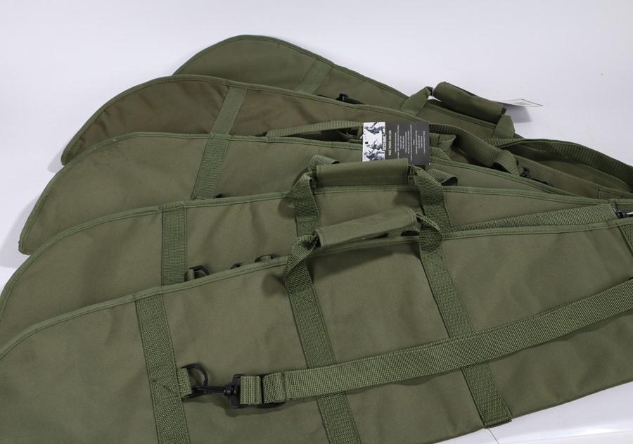 Five Nitehawk padded gun slips, length 120 cm, (5)
