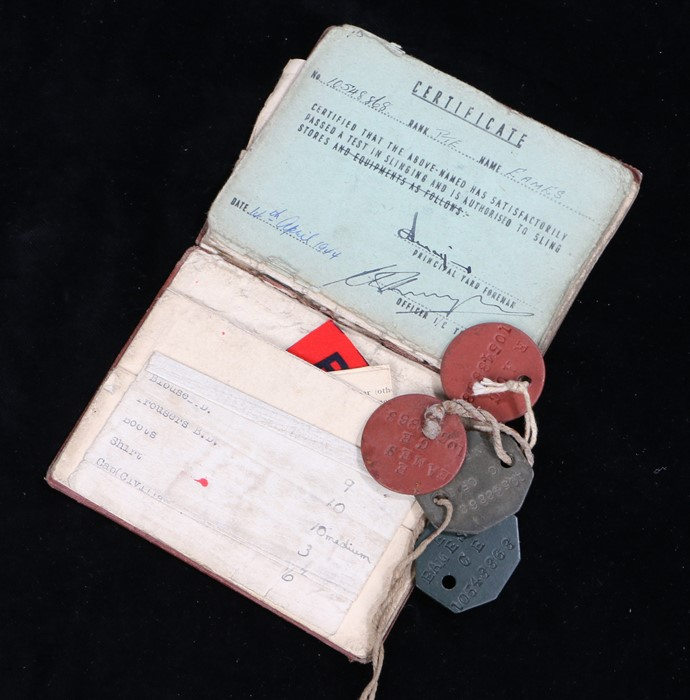 Second World War Soldiers Service and Pay Book to 10548868 Private E. Eames of the Royal Army