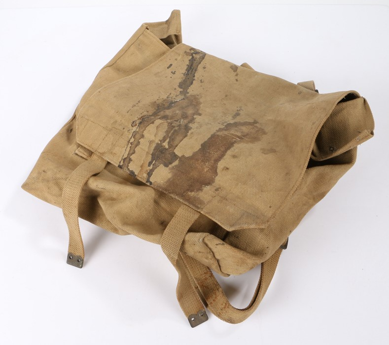 Second World War British 1937 pattern webbing large pack, marked for the maker MECo and dated 1941