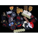 Collection of military badges, formation signs, rank badges, etc, original and reproduction, (qty)