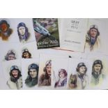 A collection of sixteen portraits of Second World War Royal Air Force Pilots all signed by the