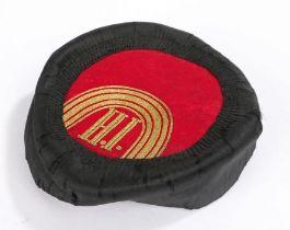 Montenegrin kapa (cap), initials of king Nikola I of Montenegro, red velvet top and gilt thread