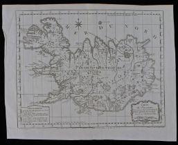 Iceland, Jacques Nicolas Bellin (1703-1782) circa 1758, Carte De L'Islande, pour fervir ala