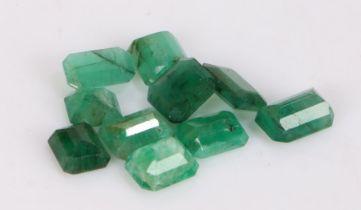 Loose emeralds, 10.24ct (10)