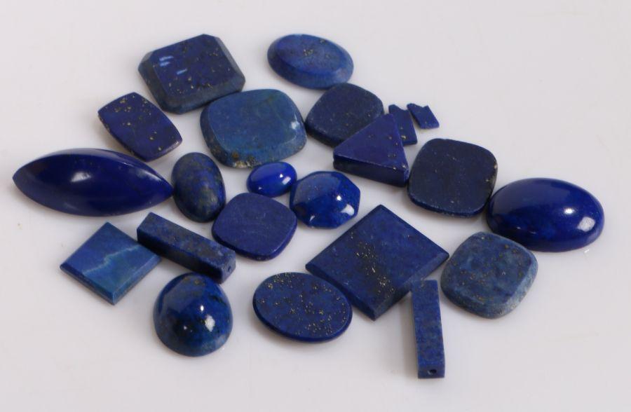Loose lapis lazuli, 102ct (qty)